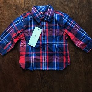 Tommy Hilfiger toddler boys collared shirt